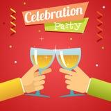 Świętowanie sukcesu dobrobytu zaproszenie Obraz Royalty Free