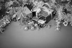 Świętowanie temat z bożymi narodzeniami & nowy rok prezentami Fotografia Royalty Free