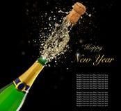 Świętowanie temat z chełbotanie szampanem dalej Obraz Stock