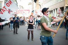 Świętowanie trzymający w Mediolan na 25 2014 Kwietniu wyzwolenie Fotografia Stock