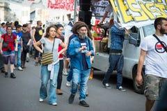 Świętowanie trzymający w Mediolan na 25 2014 Kwietniu wyzwolenie Zdjęcia Stock