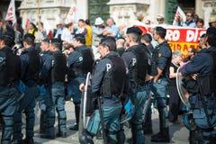 Świętowanie trzymający w Mediolan na 25 2014 Kwietniu wyzwolenie Obraz Royalty Free