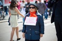 Świętowanie trzymający w Mediolan na 25 2014 Kwietniu wyzwolenie Zdjęcie Royalty Free