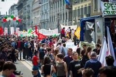 Świętowanie trzymający w Mediolan na 25 2014 Kwietniu wyzwolenie Obraz Stock