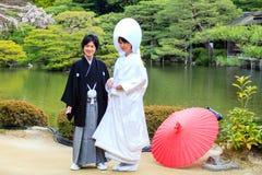 Świętowanie typowy ślub w Japonia zdjęcia royalty free
