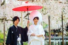 Świętowanie typowy ślub w Japonia fotografia stock