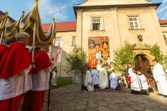 Świętowanie uczta Corpus Christi w Krakow Obraz Royalty Free