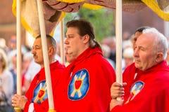 Świętowanie uczta Corpus Christi w Krakow Zdjęcie Royalty Free