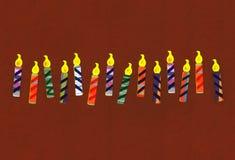 świętowanie urodzinowe świeczki Zdjęcia Stock