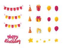 Świętowanie urodzinowy Set Fotografia Stock