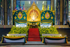Świętowanie urodziny Tajlandzki królewiątko Bhumibol Obrazy Royalty Free