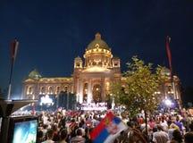 Świętowanie w kapitale Serbia zdjęcia royalty free