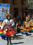 Świętowanie w Ollantaytambo Peru Zdjęcia Stock