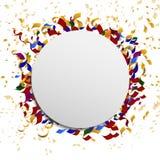 Świętowanie wektorowy sztandar z confetti ilustracja wektor