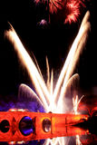 Świętowanie z szczegółów fajerwerkami colours Zdjęcia Royalty Free