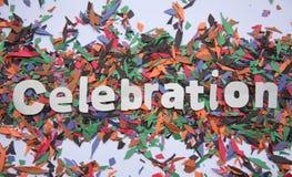 Świętowanie znak Obrazy Royalty Free