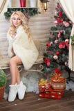 świętuje świętowania bożych narodzeń córki kapeluszy macierzysty Santa target2744_0_ Obraz Royalty Free