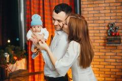 świętuje boże narodzenia rodzinnych fotografia royalty free