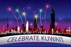 Świętuje Kuwejt ilustracja wektor