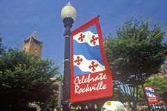 Świętuje Rockville znaka, Rockville, Maryland Zdjęcie Stock