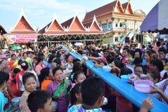 Świętuje Songkran festiwal w Mon stylu Fotografia Royalty Free