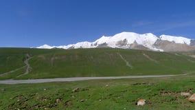 Święty śnieżny halny Anymachen na Tybetańskim plateau Fotografia Stock