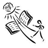 Święty święte pisma i ścieżka wiodący mężczyzna nadziemski królestwo ilustracji