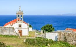 Święty Adrian Erem Ermita De Santo Hadrian blisko Malpica De Bergantinos, Coruna prowincja, Galicia Zdjęcie Stock