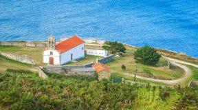 Święty Adrian Erem Ermita De Santo Hadrian blisko Malpica De Bergantinos, Coruna prowincja, Galicia Obraz Royalty Free