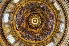 Święty Agnese W Agone Kościelnej bazyliki kopule Rzym Włochy Zdjęcia Royalty Free
