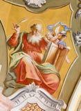 Święty Anton - święty Matthew ewangelisty fresk Zdjęcia Stock