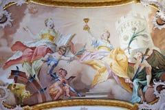 Święty Catherine i święty Barbara obrazy royalty free