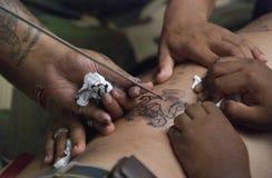 święty ceremonia tatuaż Zdjęcia Stock