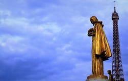 Święty chroni wieżę eifla Zdjęcie Stock