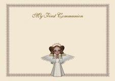 święty communion zaproszenie Obraz Royalty Free
