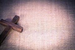 Święty Drewniany chrześcijanina krzyż zdjęcie stock