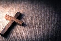 Święty Drewniany chrześcijanina krzyż fotografia royalty free