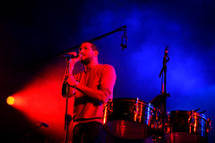 Święty duch! (synthpop duetu zespołu) muzyka na żywo przedstawienie przy Bime festiwalem Obraz Royalty Free