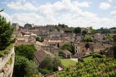Święty Emilion, bordowie/Francja - 06 19 2018: Bordoski wino wysyła winnicę świętego UNESCO światowego dziedzictwa miejsce Obrazy Royalty Free