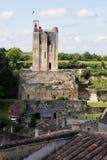 Święty Emilion, bordowie/Francja - 06 19 2018: Bordoski wino wysyła winnicę świętego unesco miasteczka światowe dziedzictwo Fotografia Stock
