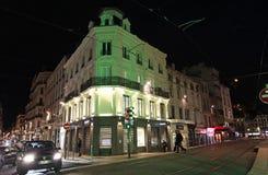 Święty Etienne nocą, Francja Fotografia Royalty Free