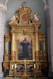 Święty Francis Xavier, ołtarz w bazylice Święty serce Jezus w Zagreb Zdjęcia Royalty Free