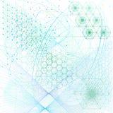 Święty geometria elementów i symboli/lów tło ilustracji