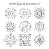 Święty geometria set Zdjęcia Royalty Free