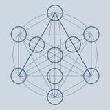Święty geometria symbol, element lub Fotografia Stock