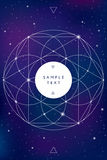 Święty geometria symbol na astronautycznym tle ilustracja wektor