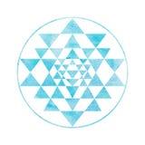 Święty geometrii i alchemii symbol Sri Yantra Obrazy Royalty Free