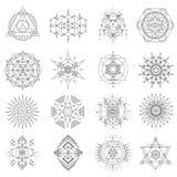 Święty geometrii kreskowej sztuki set Fotografia Stock