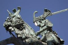 Święty George i smok, statua - Brązowa kopia Meyer, Gaml zdjęcia stock