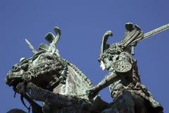 Święty George i smok statua - Brązowa kopia Meyer, Gamla obrazy royalty free
